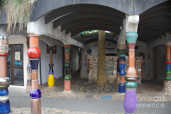 Wall Art - Photograph - Hundertwasser Toilet Block by Anthony Forster