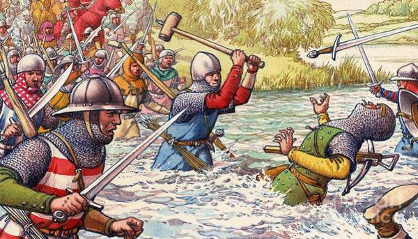 Hundred Wall Art - Painting - Hundred Years War by Pat Nicolle
