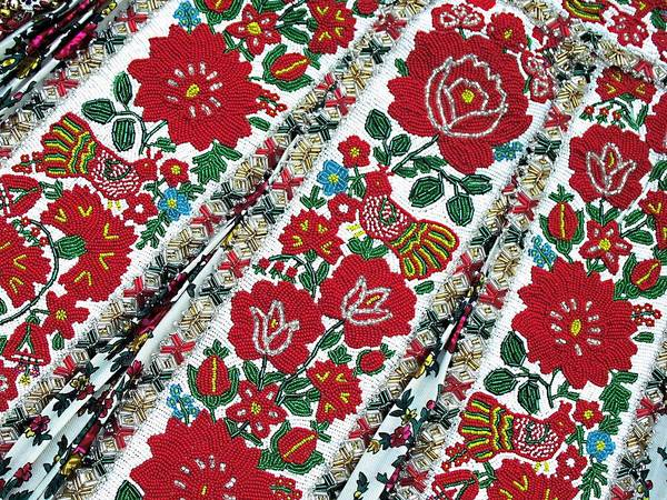 Andreas Photograph - Hungarian Beaded Emboidery From Kalotaszeg Photograph Print by Andrea Lazar
