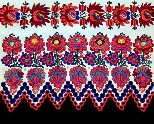 Andreas Photograph - Hungarian Folk Art Embroidery From Sioagard by Andrea Lazar