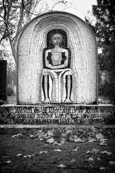 Photograph - Hungarian Headstone Bw by Joan Carroll