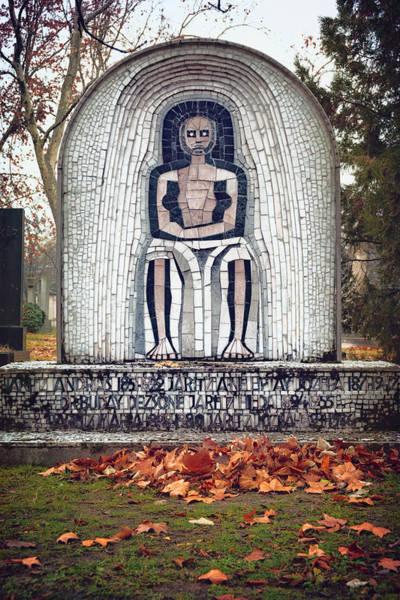 Photograph - Hungarian Headstone by Joan Carroll
