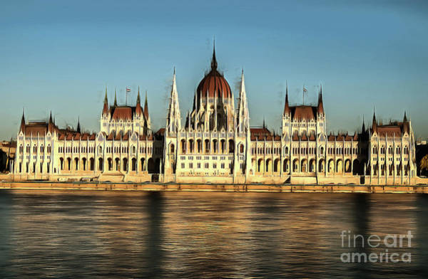 Painting - Hungarian National Parliament by Odon Czintos
