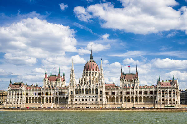 Photograph - Hungarian Parliament Building Budapest Hungary by Matthias Hauser