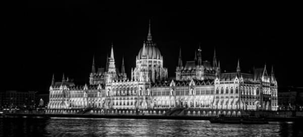 Photograph - Hungarian Parliament Bw by Heather Applegate