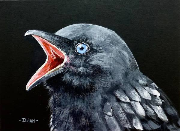 Painting - Hungry Baby Raven by Pat Dolan