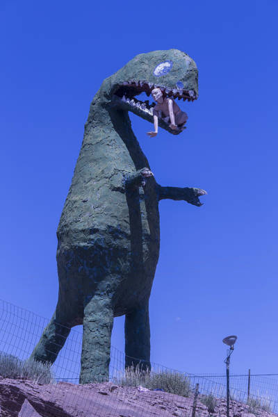 Disintegrate Photograph - Hungry Dinosaur by Garry Gay