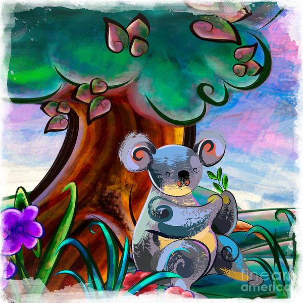 Wall Art - Digital Art - Hungry Koala by Peter Awax