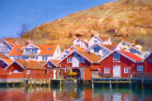 Painting - Hunnebostrand Sweden by Lutz Baar