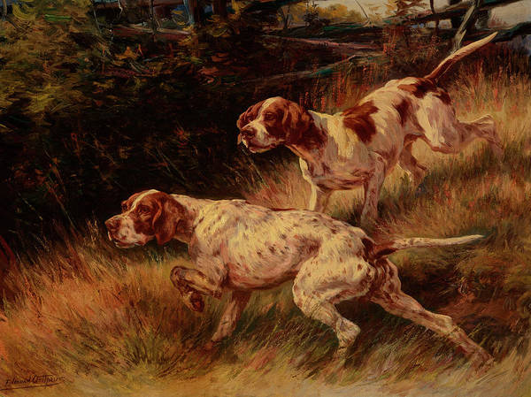 Golden Retriever Painting - Hunters by Edmund Henry Osthaus
