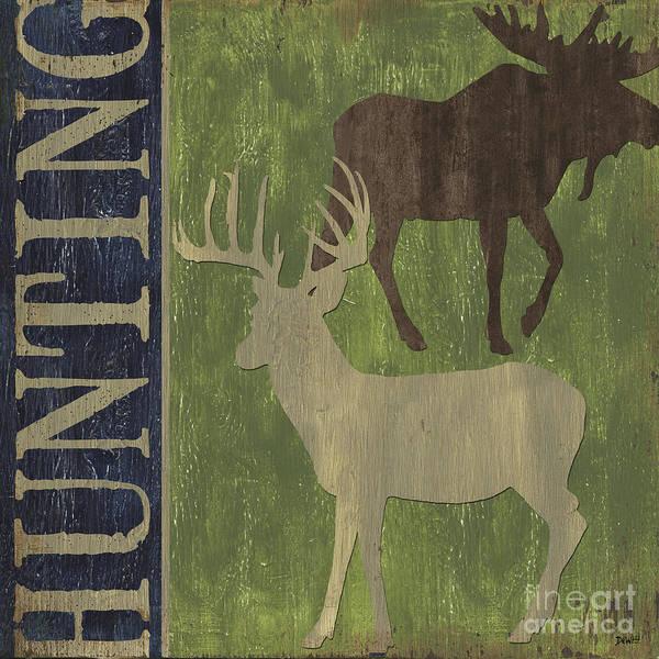 Moose Painting - Hunting by Debbie DeWitt