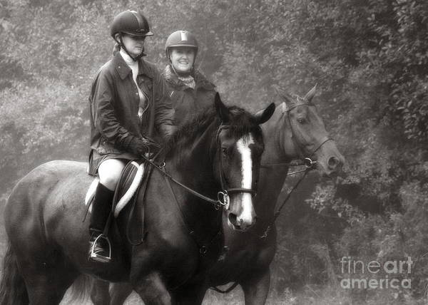 Photograph - Hunting Friends Black And White by Angela Rath