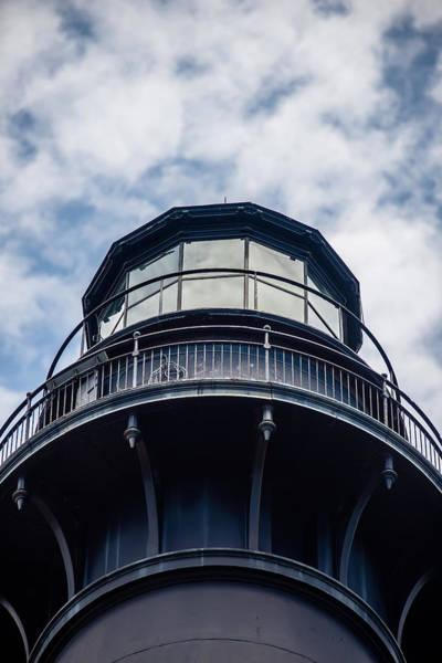 Hunting Island Lighthouse Wall Art - Photograph - Hunting Island Lighthouse With Blue Sky by Alex Grichenko