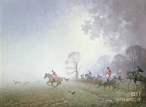 Huntsmen Wall Art - Painting - Hunting Scene by Ninetta Butterworth