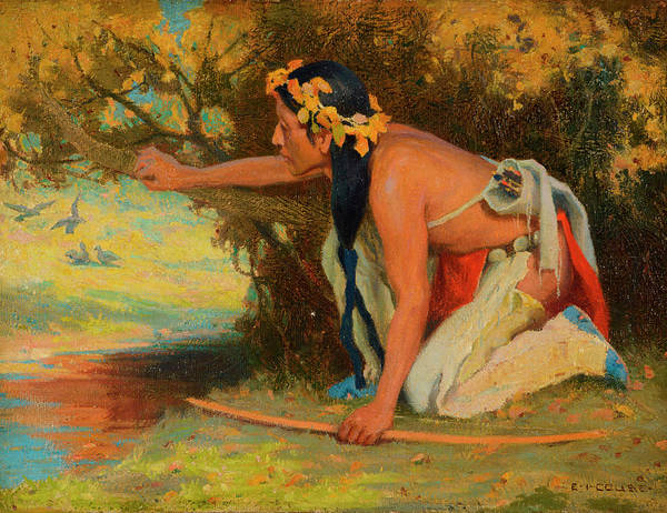 Wall Art - Painting - Hunting Son by Eanger Irving Couse