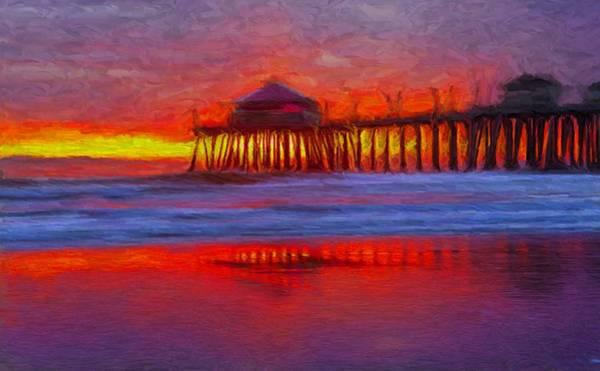Digital Art - Huntington Beach by Caito Junqueira