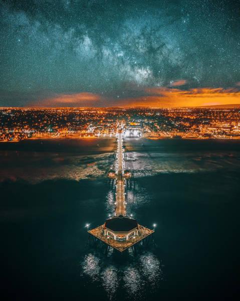 Huntington Beach Photograph - Huntington Beach Pier by Art K