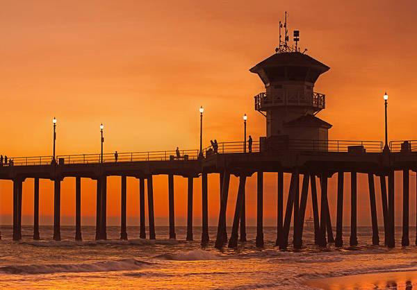 Huntington Beach Photograph - Huntington Beach Pier, California  by Don Spenner