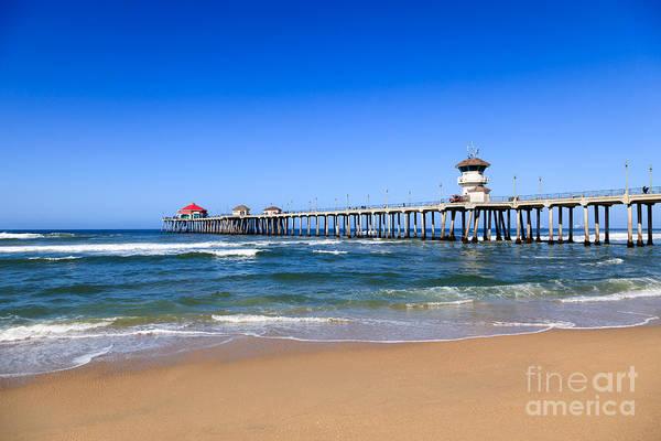 Huntington Beach Photograph - Huntington Beach Pier In Orange County California by Paul Velgos