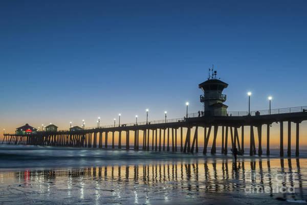 Huntington Beach Photograph - Huntington Beach Pier by Paul Quinn