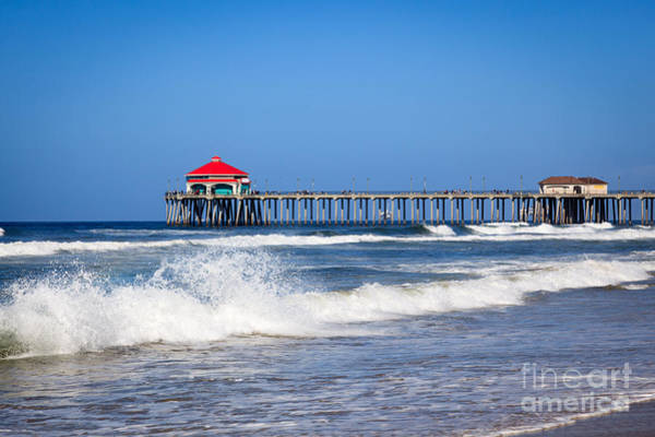 Huntington Beach Photograph - Huntington Beach Pier Photo by Paul Velgos