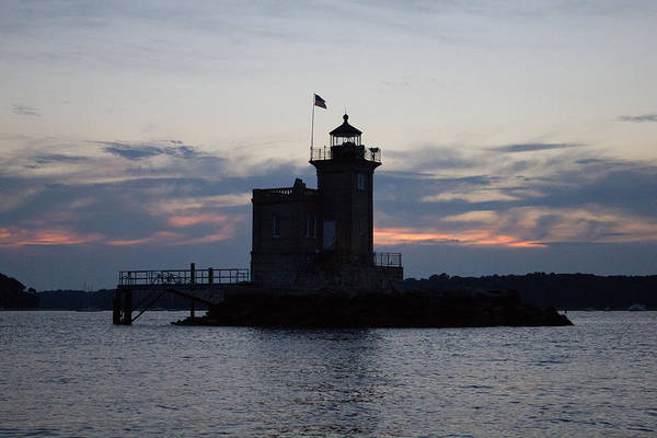 Photograph - Huntington Lighthouse At Sunset by Susan Jensen