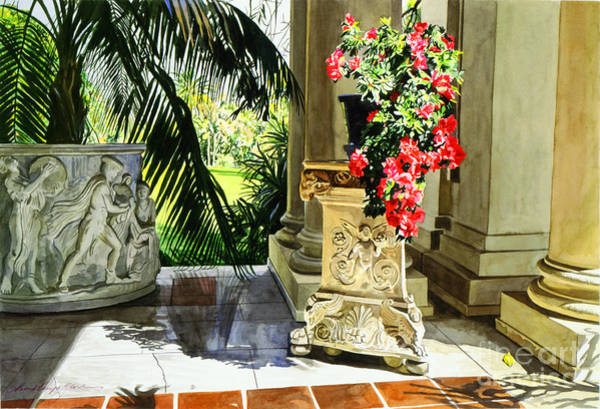 Marble Painting - Huntington Loggia by David Lloyd Glover