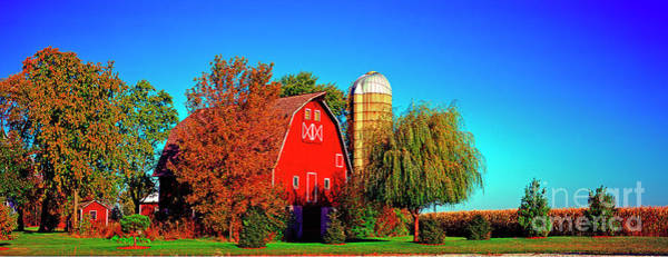 Photograph - Huntley Road Barn Early Morning by Tom Jelen