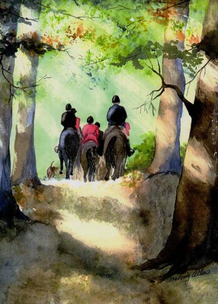 Wall Art - Painting - Hunt's End by Melody Allen