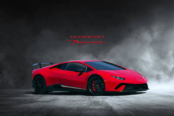 Designs Digital Art - Huracan Performante by Peter Chilelli
