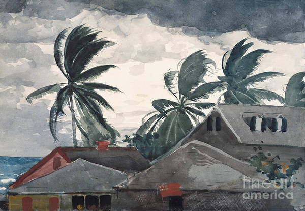 Wall Art - Painting - Hurricane, Bahamas, 1898 by Winslow Homer