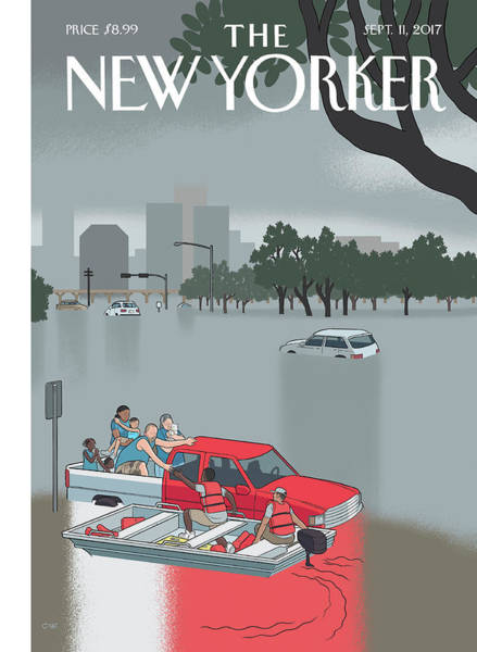 Digital Art - Hurricane Harvey by Chris Ware