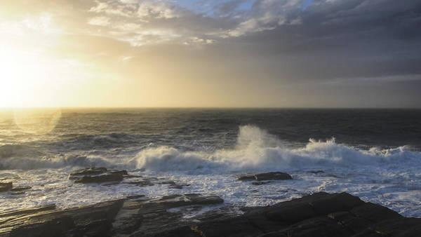 Photograph - Hurricane Sandy Sunrise 16x9 by Ian Johnson