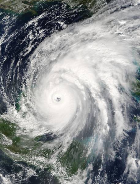 Photograph - Hurricane Wilma As A Category 4 Hurricane by Artistic Panda