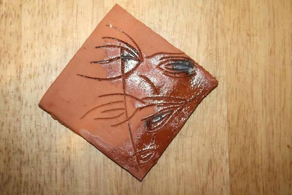 Ceramic Art - Hurt - Tile by Gloria Ssali