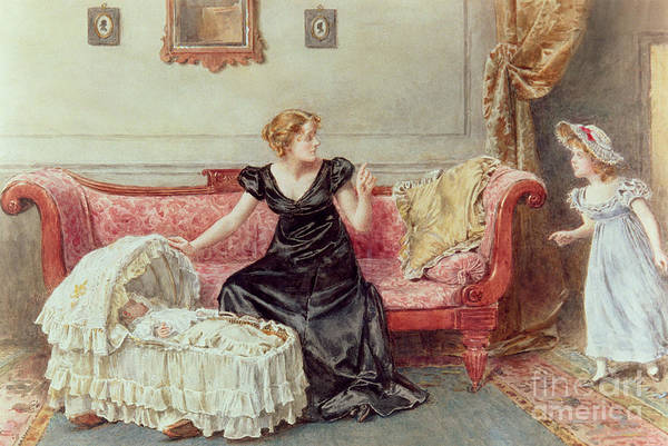 Painting - Hush by George Goodwin Kilburne