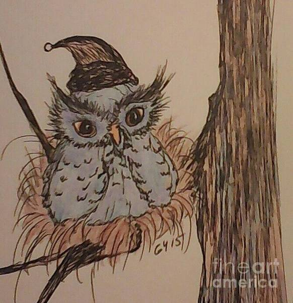 Nocturnal Drawing - Hush Now Little One by Ginny Youngblood