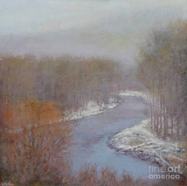 Snowscape Painting - Hush On The Bigwood by Lori McNee