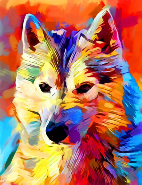 Wall Art - Painting - Husky 4 by Chris Butler