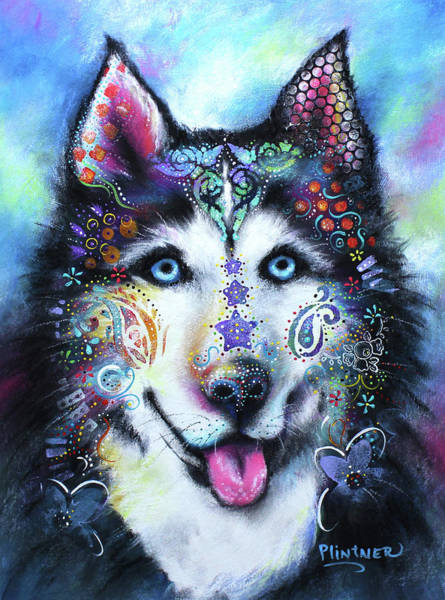 Husky Mixed Media - Husky by Patricia Lintner