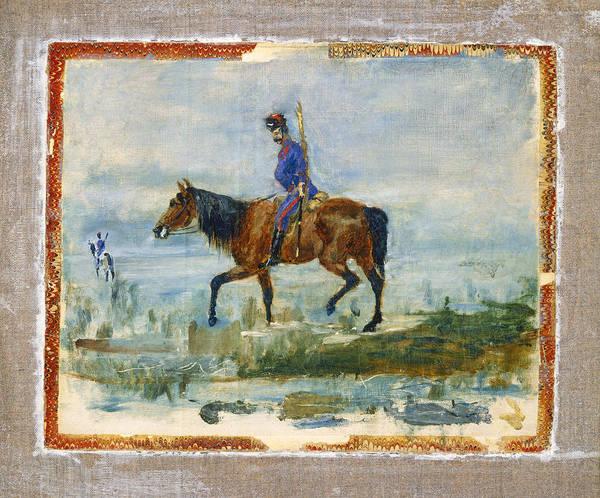 Wall Art - Painting - Hussars by Henri de Toulouse-Lautrec