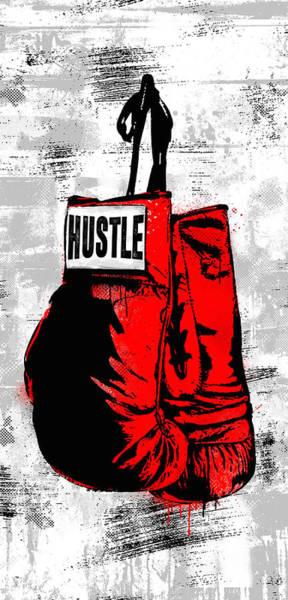 Champion Wall Art - Digital Art - Hustle Champ by Canvas Cultures