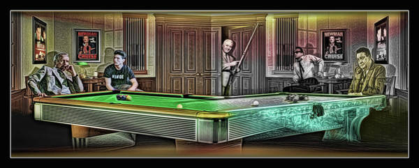 Wall Art - Digital Art - Hustlers Mosconi by Draw Shots
