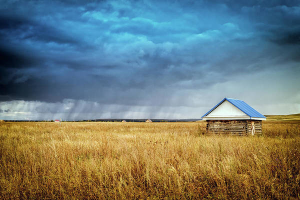 Photograph - Hut And Rain by John Williams