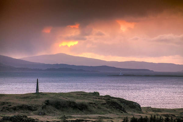 Photograph - Hutcheson's Monument On The Isle Of Kerrera At Sunset by Neil Alexander
