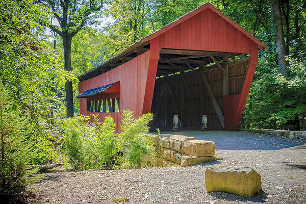 Photograph - Hutchins Covered Bridge by Jack R Perry