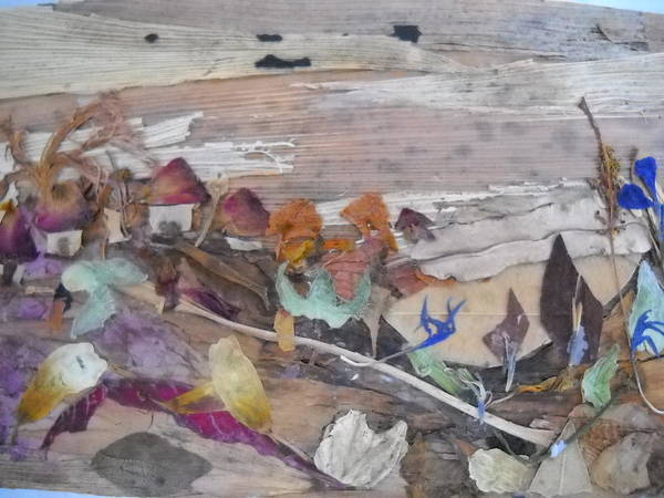 Eco Friendly Mixed Media - Huts On Hill by Basant Soni