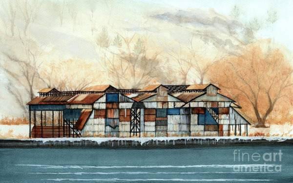 Oxidation Painting - Hutton Brickyards Kingston Ny by Janine Riley