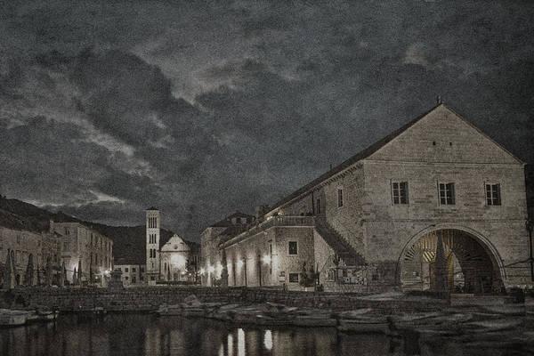 Hvar Wall Art - Photograph - Hvar Town Croatia - Black And White by Stuart Litoff