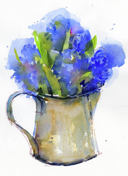 Pitcher Painting - Hyacinth In Pitcher by John Keeling